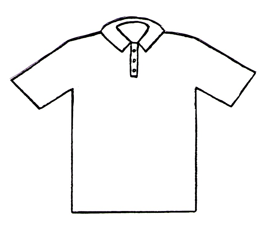 Polo shirt coloring page